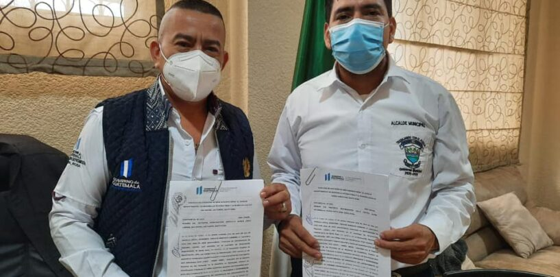 Firma de convenio con la Municipalidad de San Rafael Las Flores