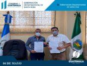 Se suscriben cinco convenios con el municipio de Pueblo Nuevo Viñas, Santa Rosa, de los proyectos que se ejecutará en el ejercicio fiscal 2021