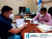 Se suscribe un convenio con el municipio de Pueblo Nuevo Viñas, Santa Rosa, de los proyectos que se ejecutará en el ejercicio fiscal 2021
