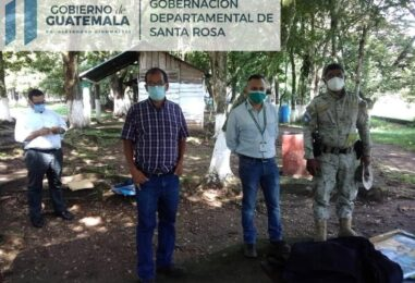 El señor Gobernador realiza visita de campo a los alrededores de LAGUNA EL PINO